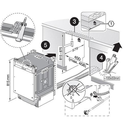 Установка посудомоечной машины bosch своими руками фото