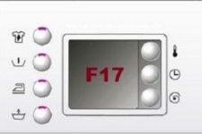 Ошибка f17 bosch