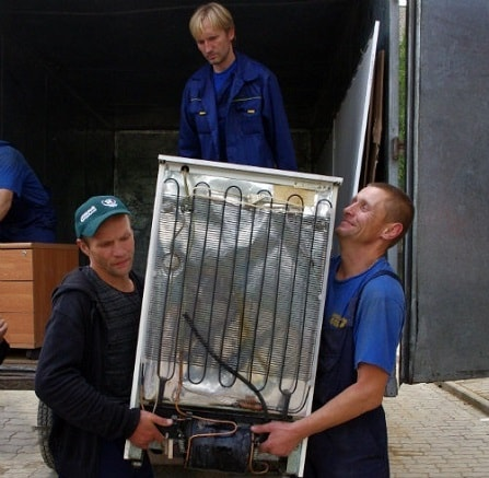 как перевозить старый холодильнк