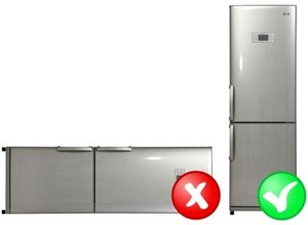 В каком положении можно перевозить холодильник