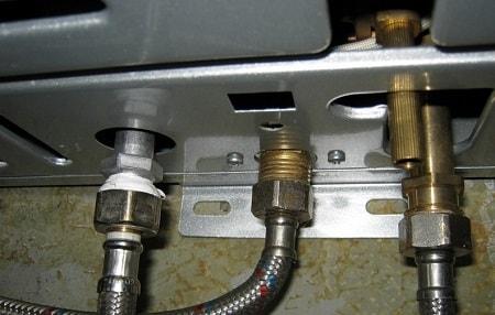 подключение газовой колонки к водоснабжению